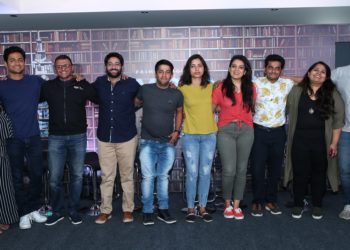 Kreeti Gogia (OML), Kenny Sebastian, Vijay Subramaniam (Director & Head - Content, Amazon Prime Video), Arnav, Shanky & Sejal, Kaneez Surkha, Naveen Richard, Sumukhi Suresh, Kannan Gill at the launch of ComicstaamContent, Amazon Prime Video), Comedians - Kenny Sebastian, Kannan Gill, Kaneez Surkha, Naveen Richard, Sumukhi Suresh at launch of Comicstaan