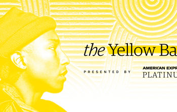 American Express and Pharrell Williams to co-host Yellow Ball on September 10th at the Brooklyn Museum benefiting Young Audiences (Graphic: Business Wire)