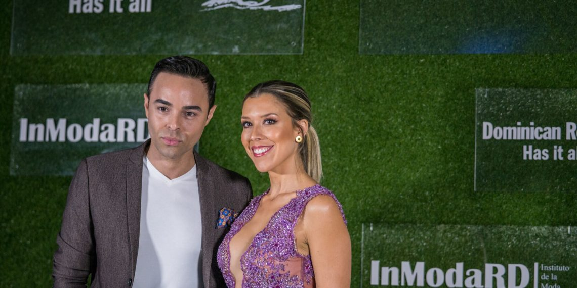 CNN en Español Journalist Erick Cuesta and TV Host Stephanie Carrillo enter the first annual InModaRD fashion show in Miami hosted by the Dominican Republic Ministry of Tourism.