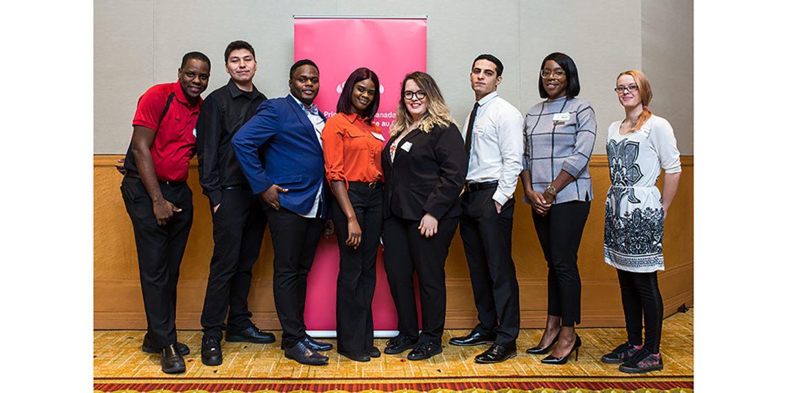 Recent pilot program graduates and their Marriott Associate mentors at the Marriott Toronto Eaton Centre.
