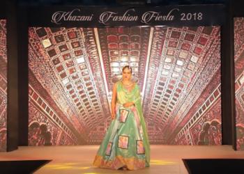 Khazani Women's Vocational Institute Fashion Fiesta 2018, a model on ramp