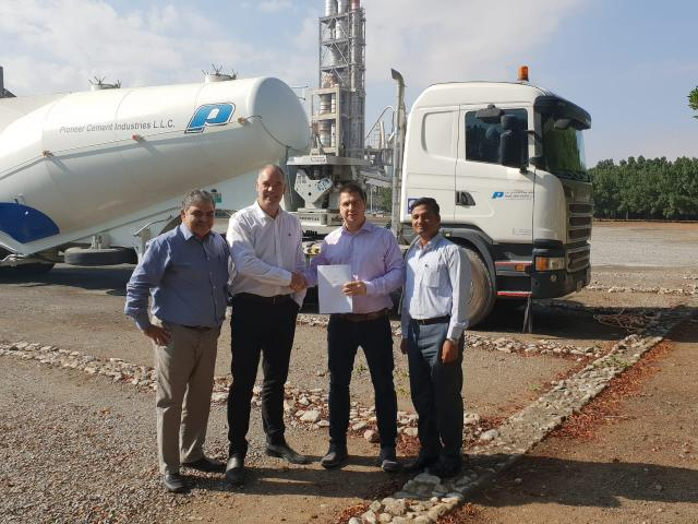 (From L to R) – Mr. Afzaal Qadri - Plant Manager of Pioneer, Ashley Bryan – General Manager of Pioneer and Christian Abl – Director of Emirates RDF. (Photo: AETOSWire)