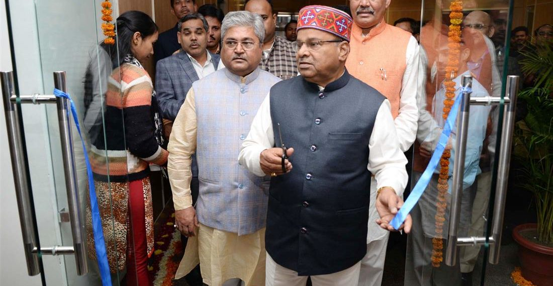 The Union Minister for Social Justice and Empowerment Thaawar Chand Gehlot inaugurating the Conference hall of Dr. Ambedkar International Centre, in New Delhi on December 06, 2018. The Minister of State for Social Justice & Empowerment, Vijay Sampla is also seen.
