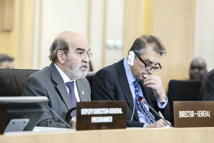 FAO Director-General Jose Graziano da Silva delivering his opening statement to the 160th Session of FAO Council.