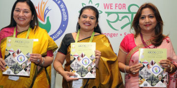 A brochure and guide to AICOG 2019 was released by FOGSI 2018 president Dr Jaideep Malhotra, AICOG 2019 organising committee chairperson Dr Hema Divakar and FOGSI 2019 president Dr Nanditha Palshetkar on Tuesday