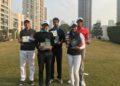 Mathew Faldo, Director, Faldo Series, Tanishka Kumar, winner U-21 Girls, Pranavi Urs, U-16 Girls, Ronak Sheth, Chief Client Experiences Officer, IIIFL Investment Managers, Aryan Roopa Anand, winner, boys in the U-18 Category, Shaurya Bhattacharya, winner, in the Boys U-16 Category, Keshav Mishra in the Boys U-21 Category and Rishi Narain of the Rishi Narain Sports Marketing Firm.