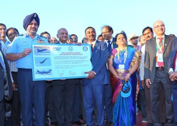 The Secretary, Department of Defence Research & Development, Chairman, Defence Research and Development Organisation (DRDO) and Director General, Aeronautical Development Agency (ADA), Dr. G. Satheesh Reddy handing over the Final Operational Clearance (FOC) for LCA Air Force Mk1 to the Chief of the Air Staff, Air Chief Marshal B.S. Dhanoa, in Bengaluru on February 20, 2019.